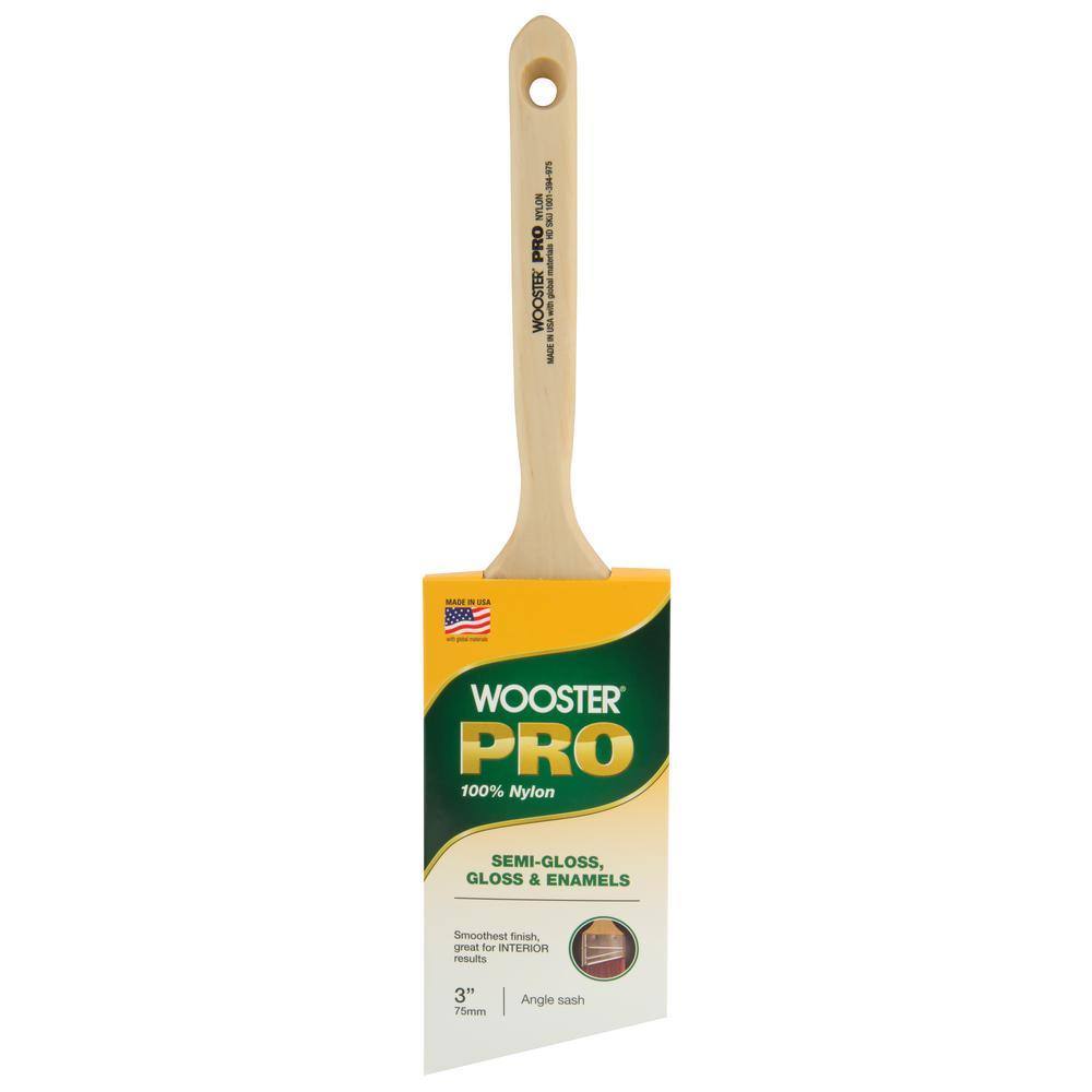 3 in. Nylon Angle Sash Brush