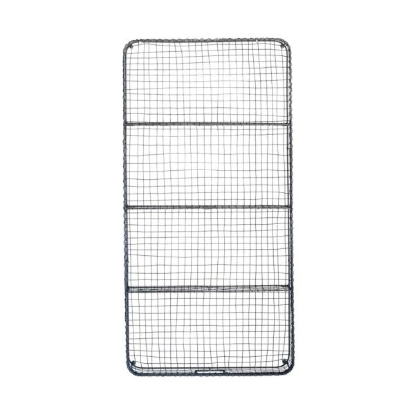 Creative Co Op Casual Country 6 In X 24 In X 48 In Gray Wire Wall Decor With 4 Shelves Da8773 The Home Depot