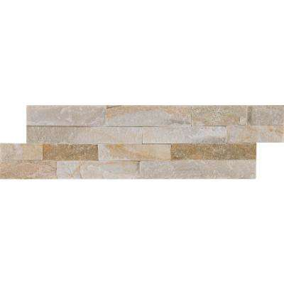 Golden Honey Mini Ledger Panel 4.5 in. x 16 in. Natural Quartzite Wall Tile (5 sq. ft. / case)