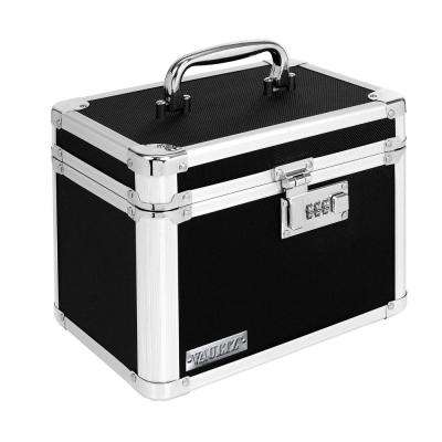 Locking Small Storage Box - Black, Combination Lock