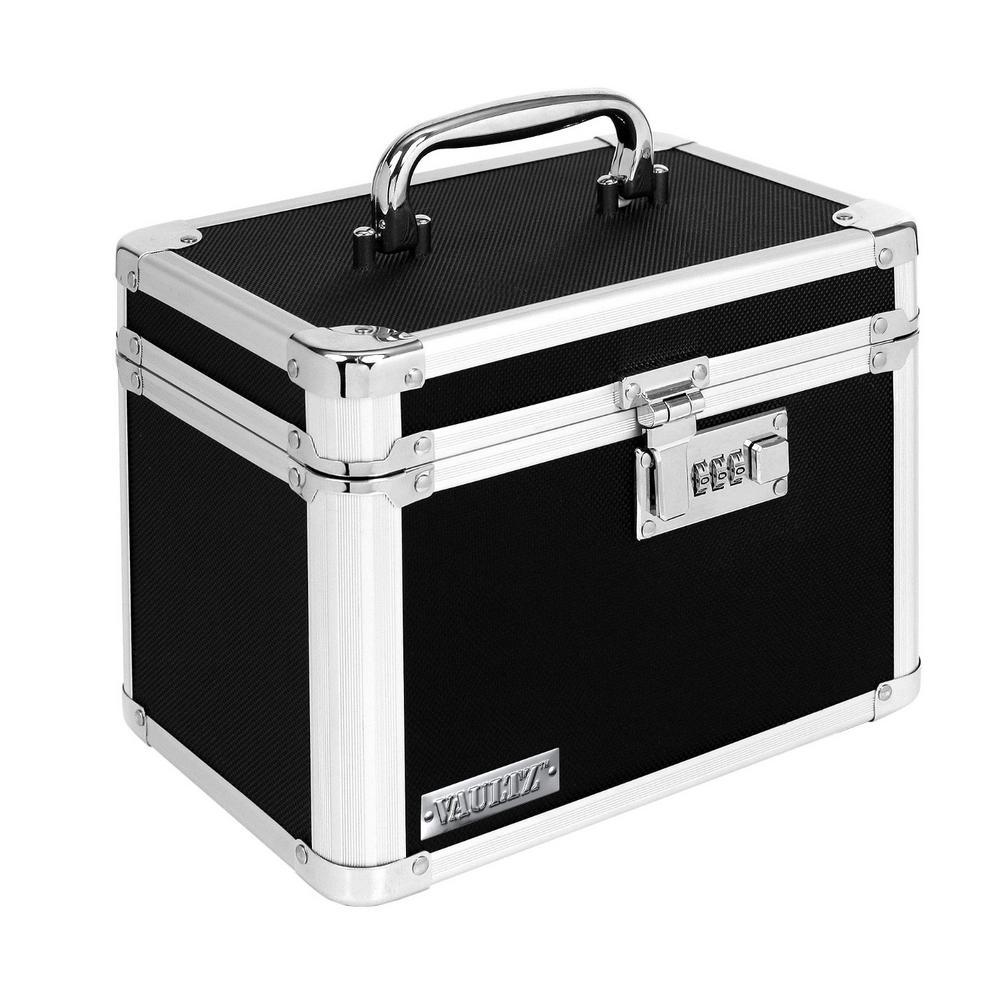 Vaultz Security Storage Box Black with Combination Lock