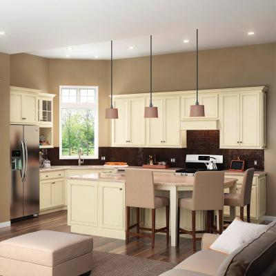 American Woodmark Custom Kitchen Cabinets Shown In Cottage Style