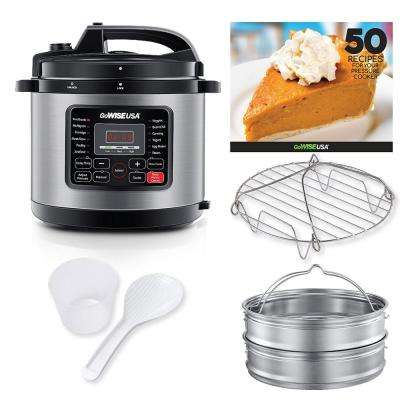 12.5 Qt. Electric Pressure Cooker with 12 Presets (Stainless Steel)