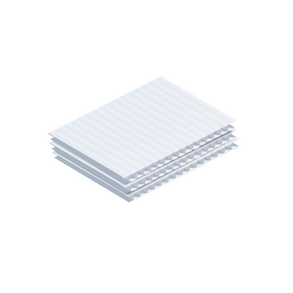 24 in. x 18 in. x .15 in. White Corrugated Plastic