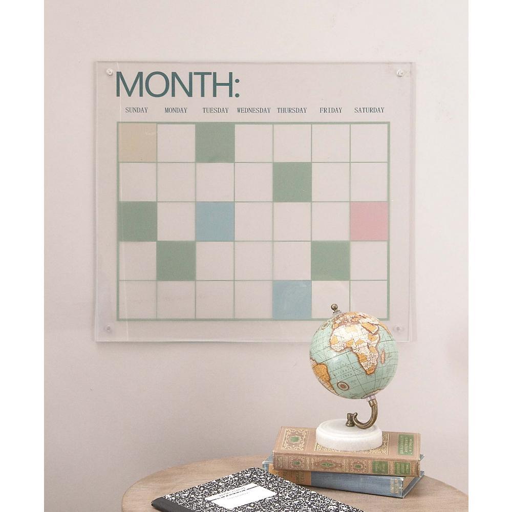 17 in. x 19 in. Modern Acrylic Wall Calendar