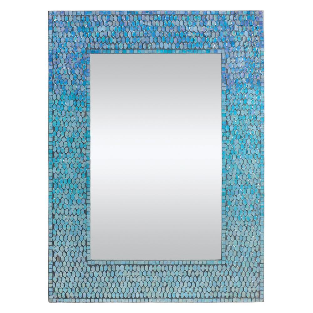 Medium Rectangle Mosaic Modern Mirror (23 in. H x 31 in. W)