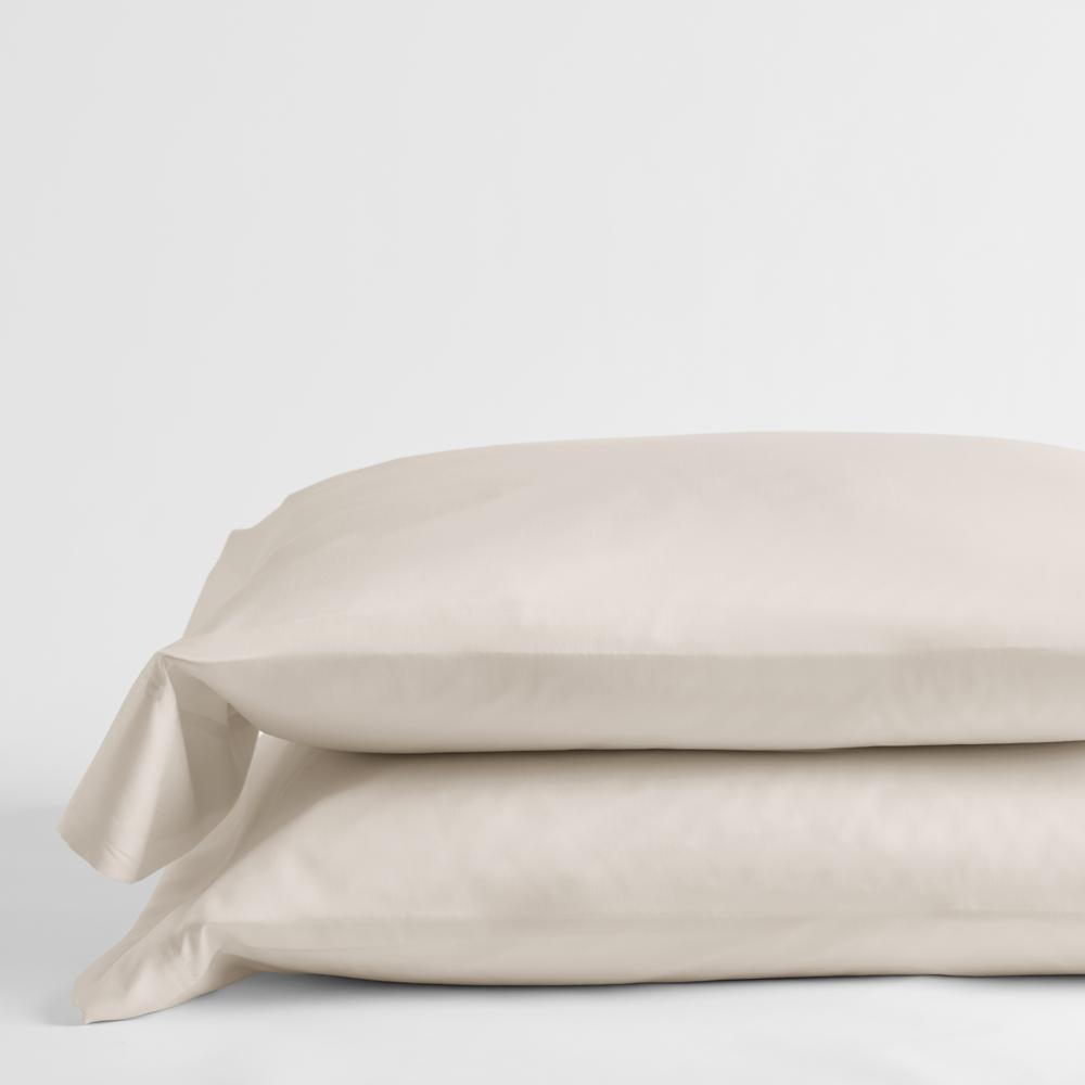Legends Hotel Buff 300-Thread Count TENCEL Lyocell Sateen Standard Pillowcase (Set of 2)