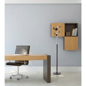 Adesso Cluster Black Coat Rack with Chrome by Adesso