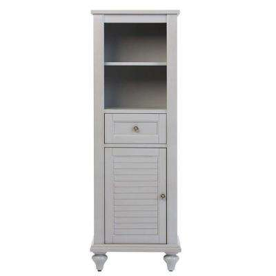 Hamilton 18 in. W x 52-1/2 in. H Bathroom Linen Cabinet in Grey