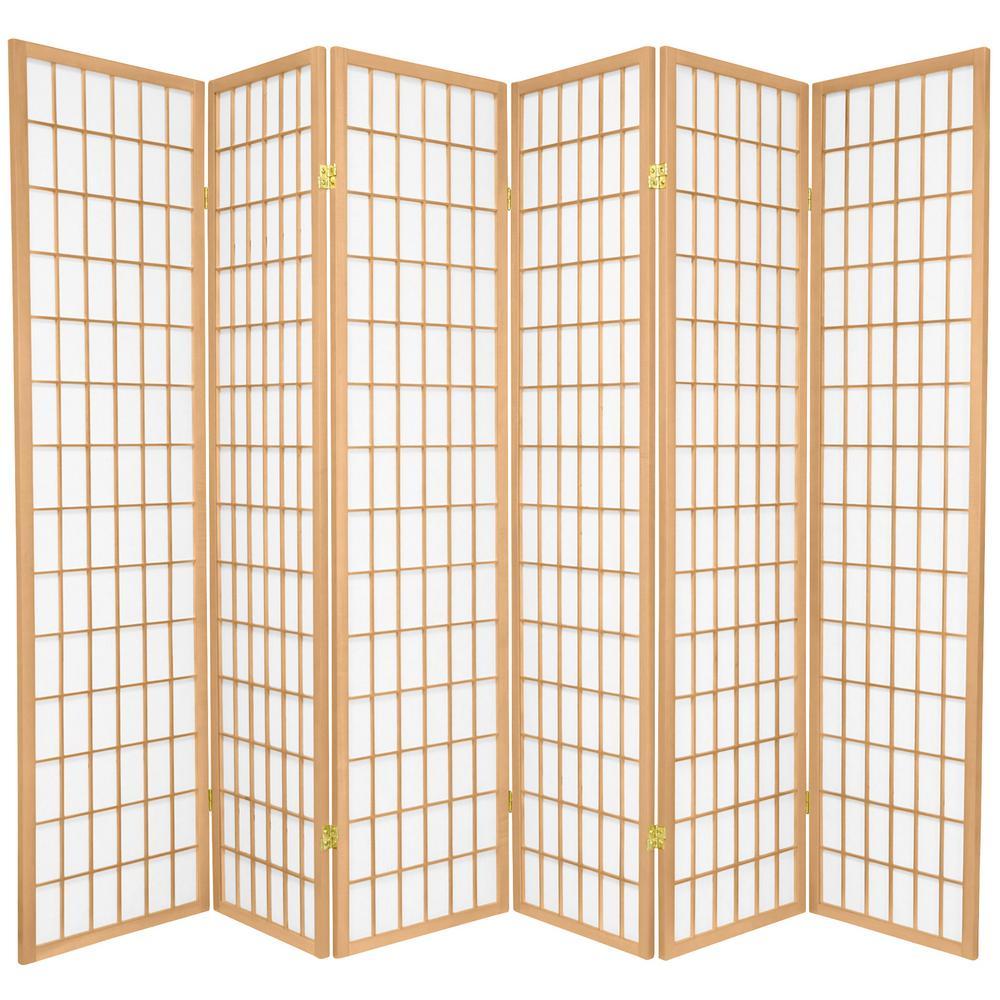 Natural 6 Panel Room Divider