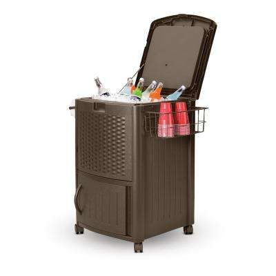 77 Qt. Resin Wicker Cooler with Cabinet