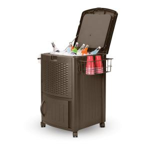 Suncast 77 Qt. Resin Wicker Cooler with Cabinet Deals