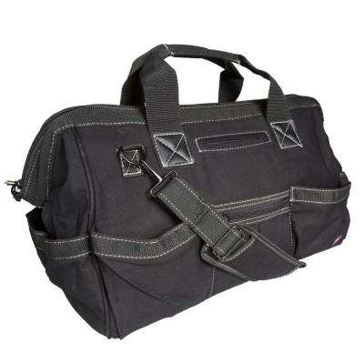 18 in. Soft Sided Construction Work Tool Bag, Black