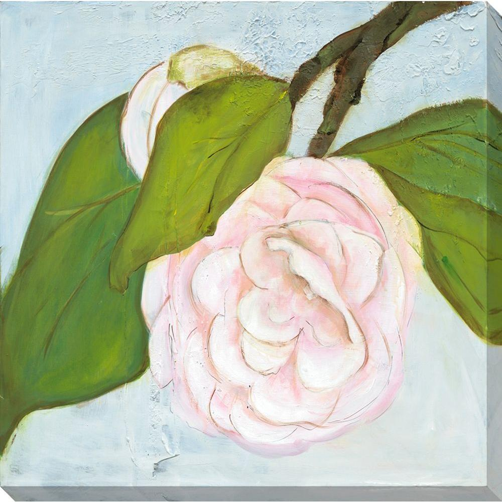 NEP Art 40 in. x 40 in. Camilla in Pink Oversized Canvas Gallery Wrap