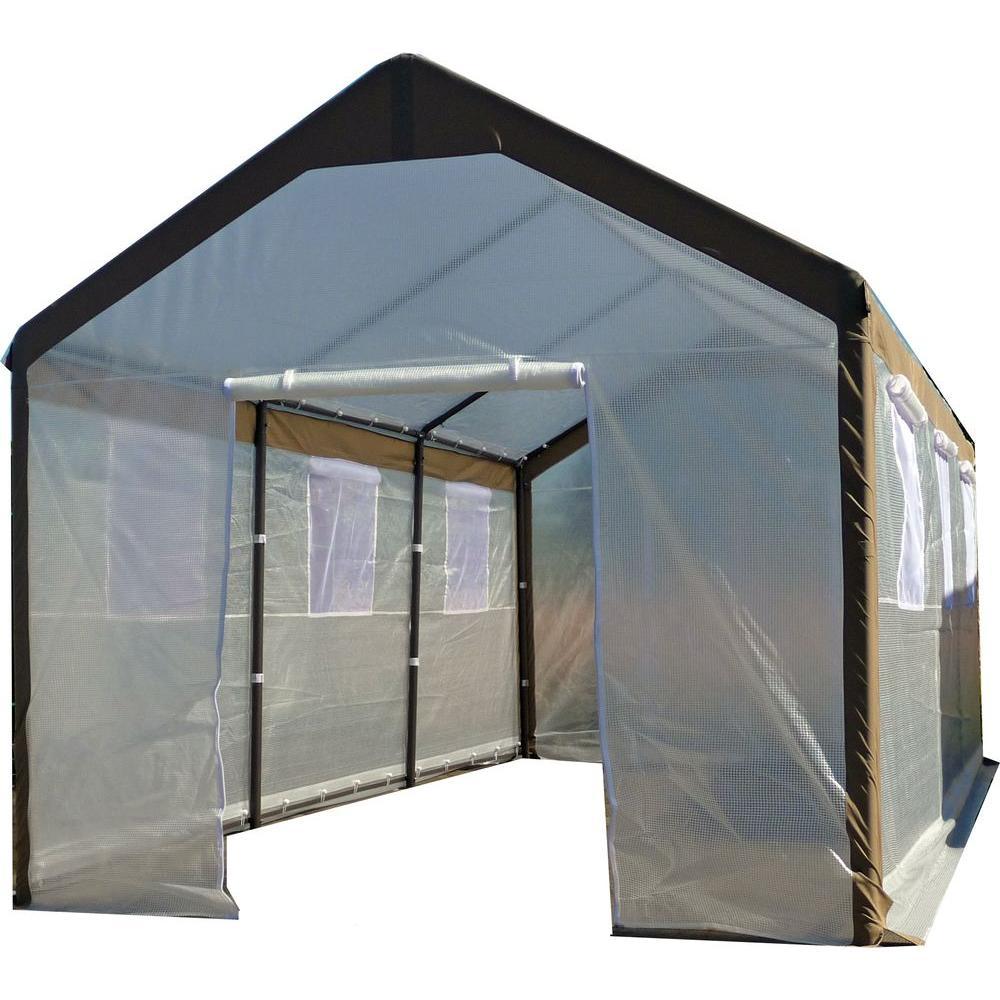 Spring gardener 10 ft w x 20 ft l x 9 ft h gable for Gable decorations home depot