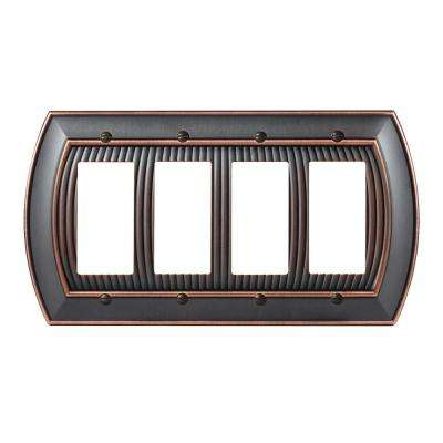 Sea Grass 4-Rocker Wall Plate, Oil-Rubbed Bronze