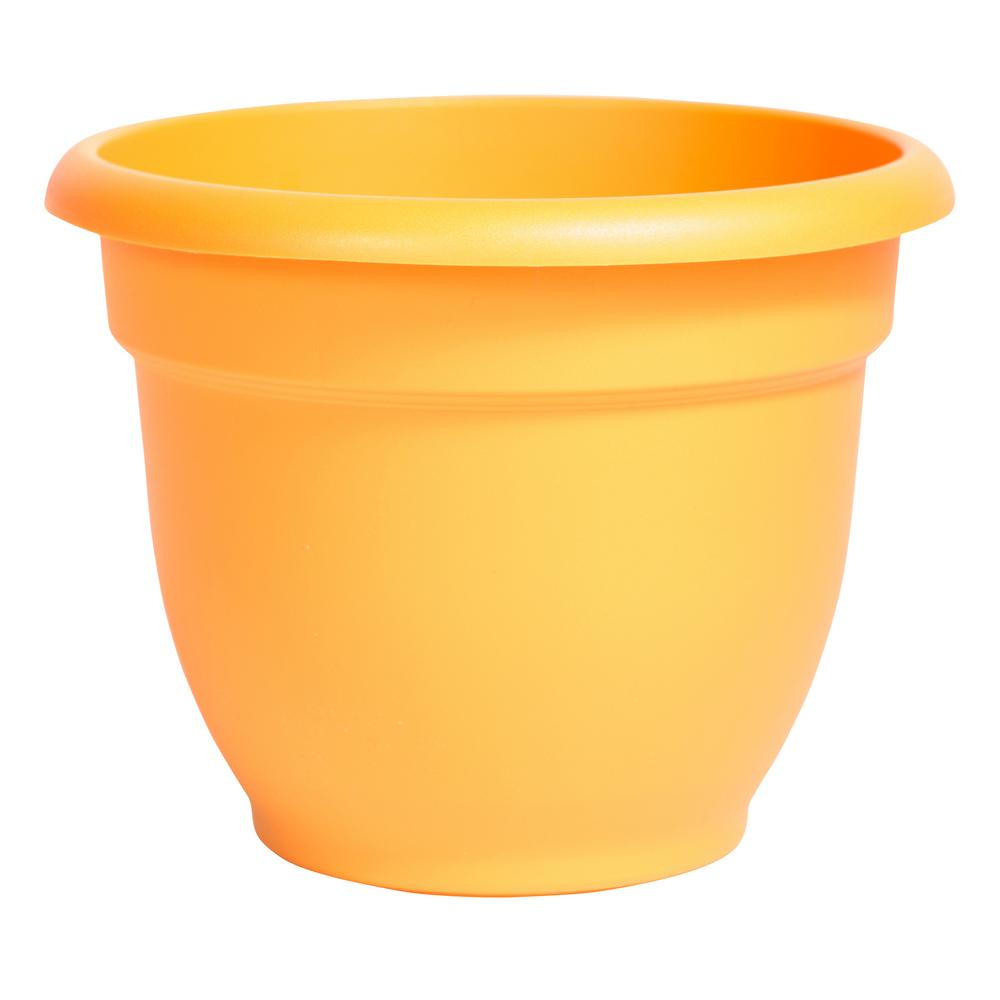 Ariana 16 in. Tequila Sunrise Plastic Self Watering Planter