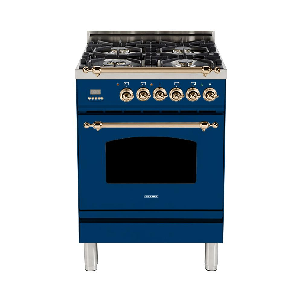 24 in. 2.4 cu. ft. Single Oven Dual Fuel Italian Range