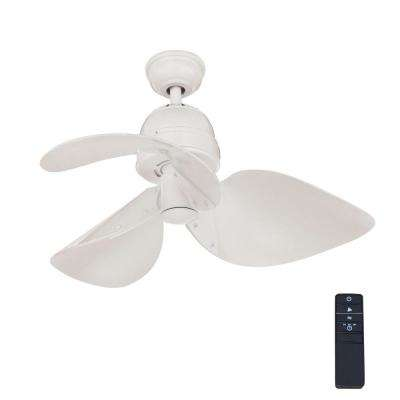 Indoor White Ceiling Fan With Remote Control