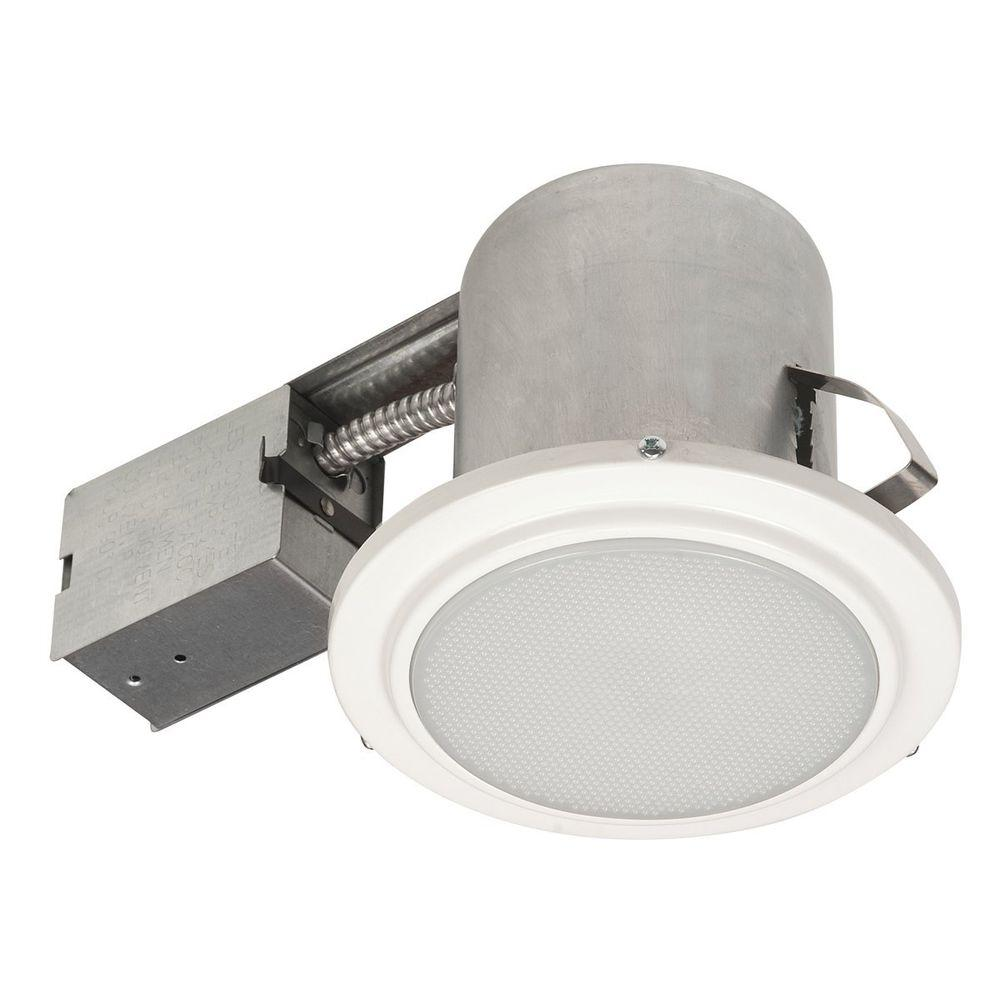 Recessed Lighting Housing For Shower : Globe electric in white recessed shower light fixture
