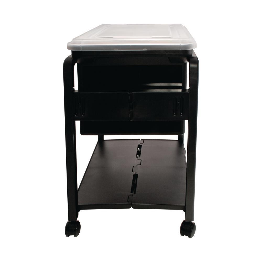 Letter/Legal Plastic File Cart in Black