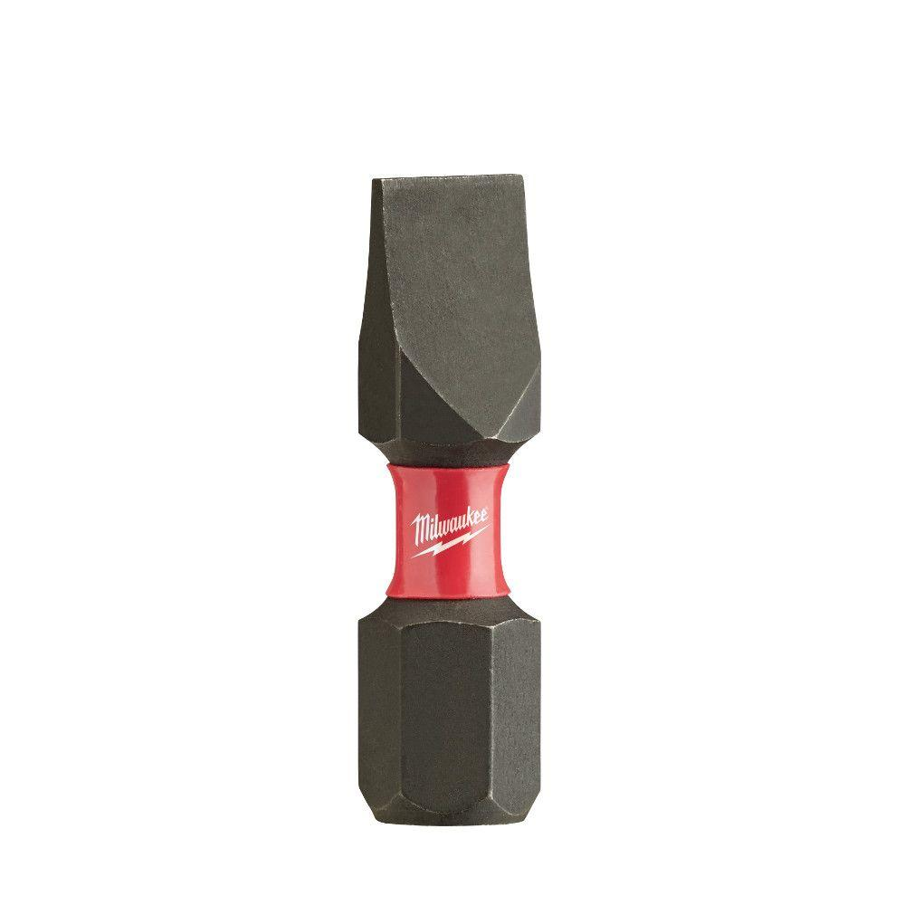 Milwaukee Shockwave Impact Duty 1 in. and 1/4 in. Slotted Insert Bit (2-Pack)