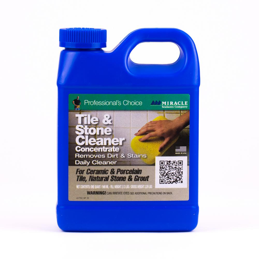 Miracle Sealants Oz Tile And Stone CleanerTSC QT H The Home - Cleaning agent for tiles