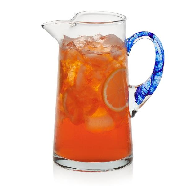 Libbey Cabos Blue-Handled Glass Pitcher 99095
