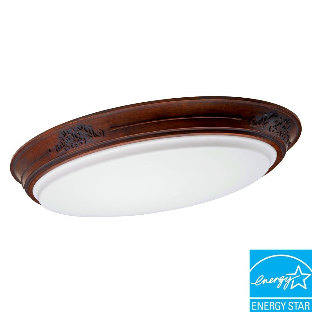 Lithonia Lighting Heritage 2 Light Ebony Rosewood Fluorescent Decorative Fixture