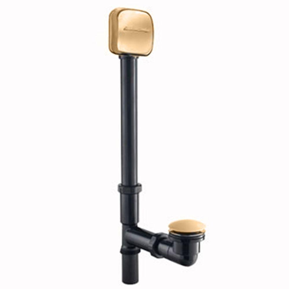 2.25 in. Deep Soak Bathtub Drain in Polished Brass