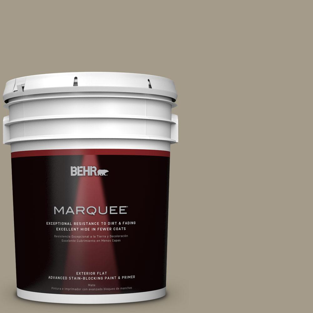 BEHR MARQUEE 5-gal. #PMD-57 Fossil Stone Flat Exterior Paint