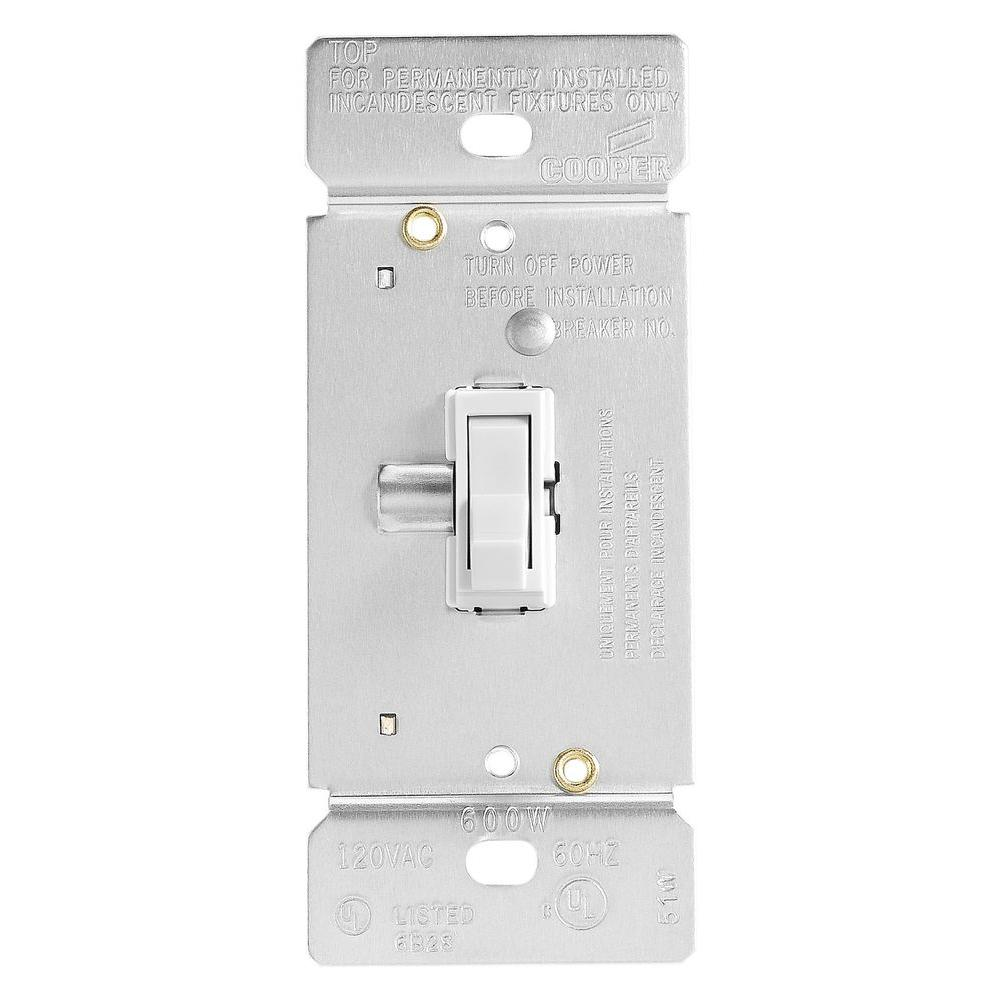 Eaton Trace 600-Watt Dimmer with Combination Single-Pole 3-Way Unit ...