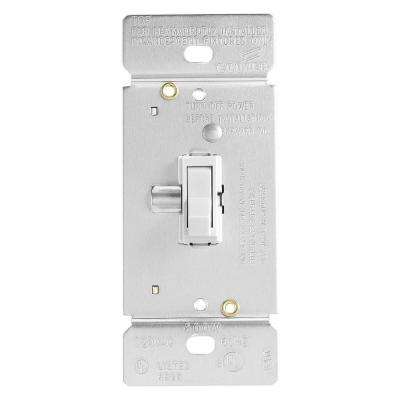 Trace 600-Watt Dimmer with Combination Single-Pole 3-Way Unit, White