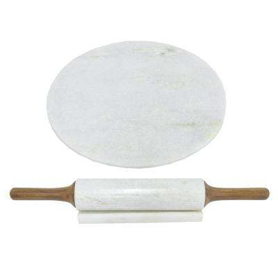 Marble Board with Rolling Pin