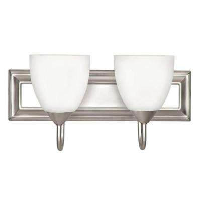 Punch 2-Light Satin Nickel Bath Vanity Light