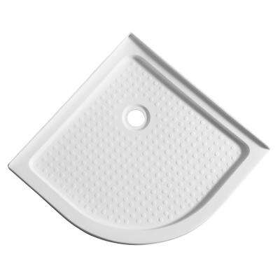 Pillar Series 36 in. x 36 in. Double Threshold Shower Base in White