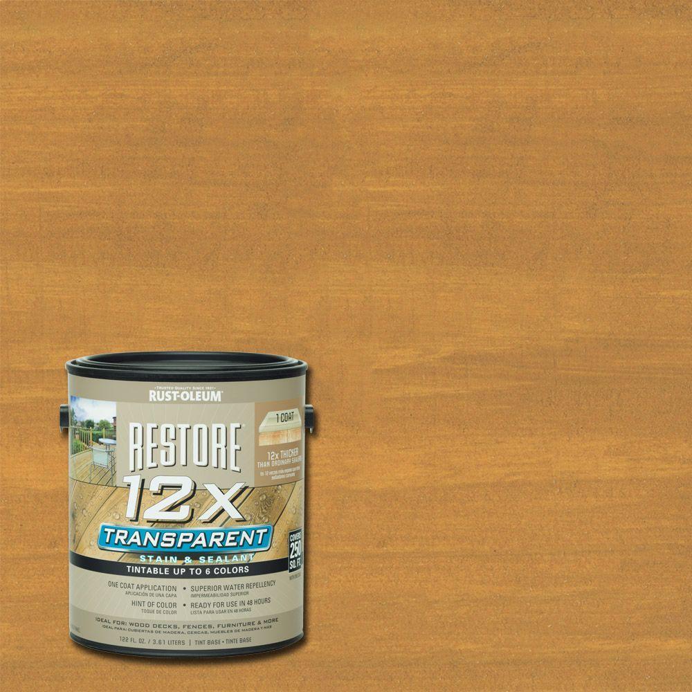 1 Gallon 12X Transparent Cedar Stain and Sealant