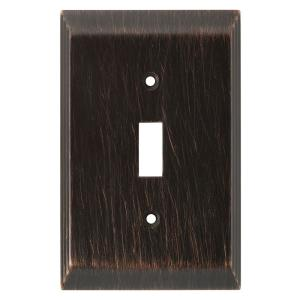 Bronze 1-Gang Toggle Wall Plate (1-Pack)
