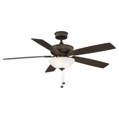 Blakeford 54 in LED Espresso Bronze DC Motor Ceiling Fan with Light