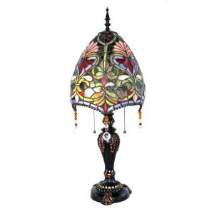 River of Goods 30.5 inch Multi-Colored Indoor Table Lamp with Stained Glass Brianne's Beaded Shade by River of Goods