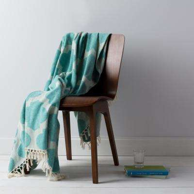 Mallory Aqua Cotton Throw
