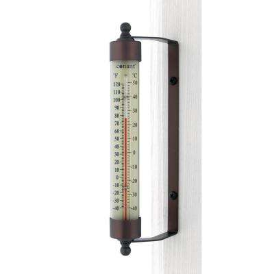 Decor Indoor/Outdoor Thermometer Bronze Patina