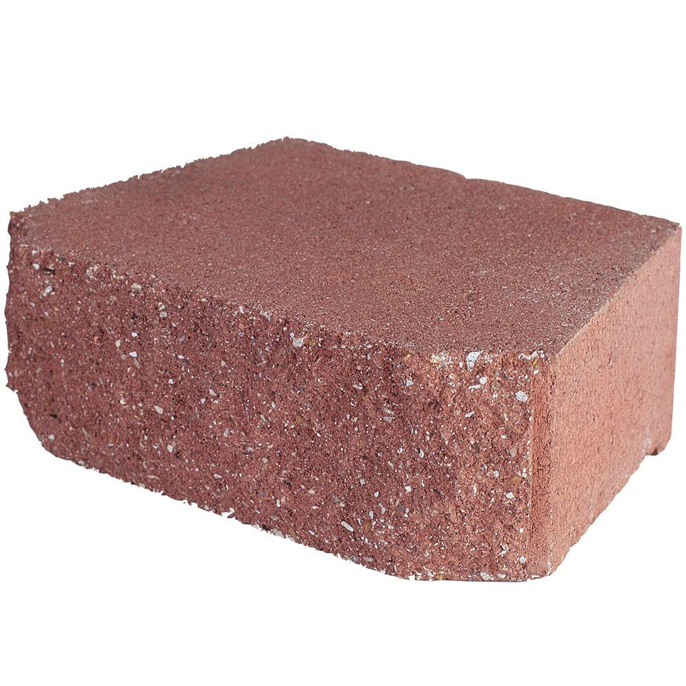 4 in. x 11.75 in. x 6.75 in. River Red Concrete