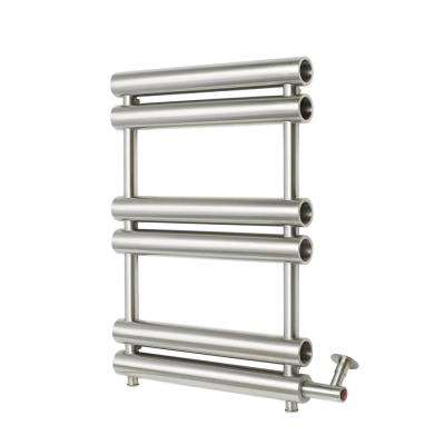 6-Bar Wall Mounted Electric Towel Warmer with Digital Timer in Stainless Steel Polished