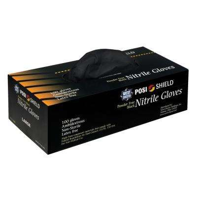 Powder Free Black Nitrile Disposable Gloves, XXLarge - 100 Ct. Box, sold by the case