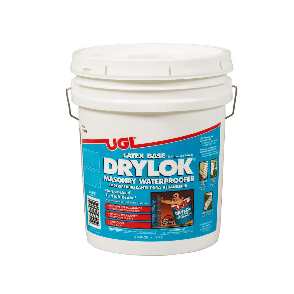 Drylok 5 Gal White Ready Mixed Latex Base Waterproofer 209161 The Home Depot