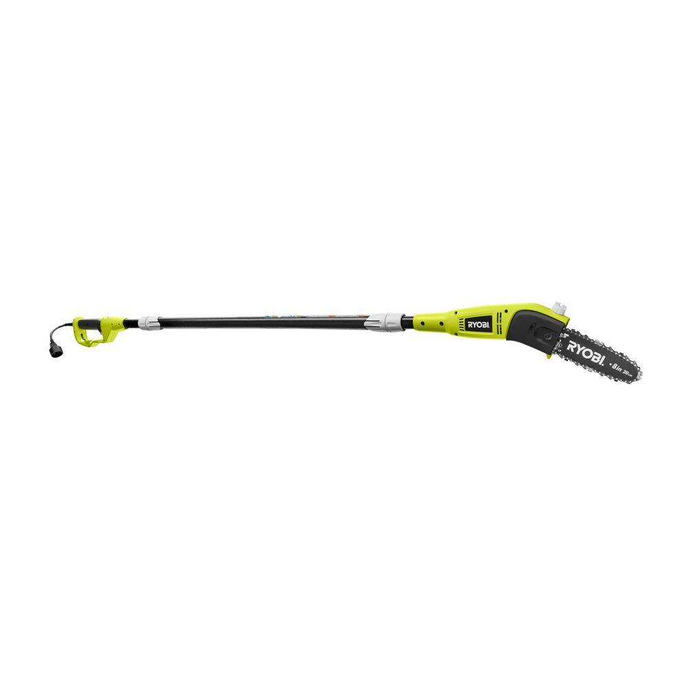 New 9.5 Inch 7 Amp Corded Electric Pole Saw Branch Trimmer Chainsaw Tree Pruner