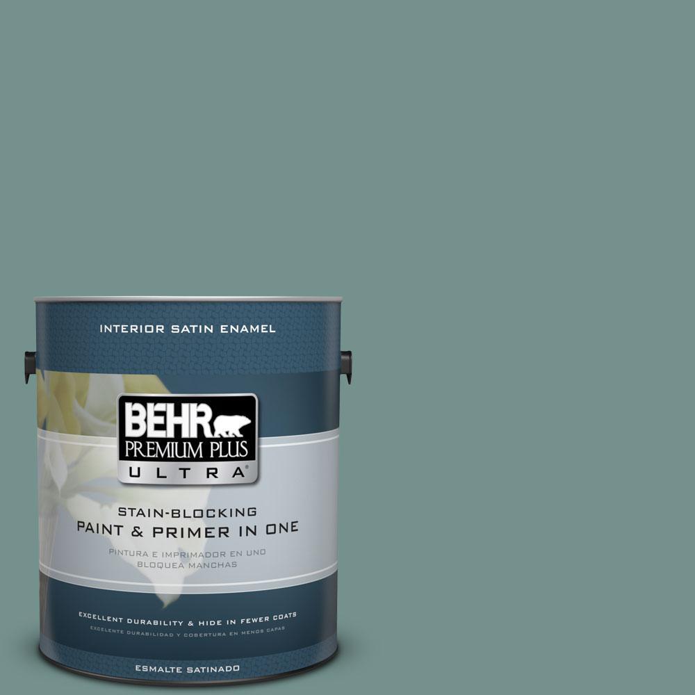 BEHR Premium Plus Ultra 1-Gal. #PPU12-3 Dragonfly Satin Enamel Interior Paint