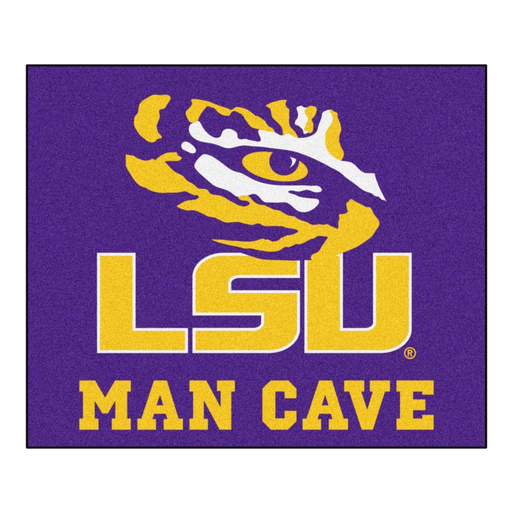 Louisiana State University Purple Man Cave 5 Ft X 6 Area Rug