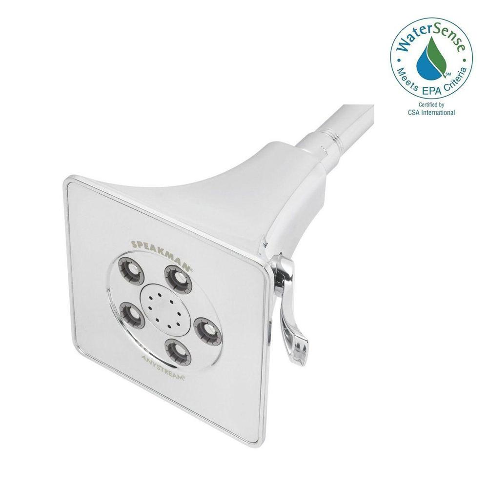 Speakman Anystream Rainier 3-Spray 4-5/8 in. Raincan Fixed Showerhead in Polished Chrome